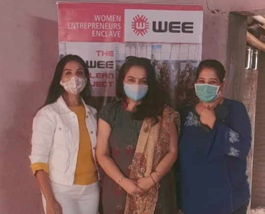 WEE-Members from different parts of the country donated for WEE-Clean Project  by WEE-Women Entrepreneurs Enclave